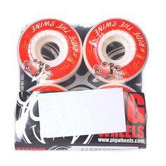 Колеса для скейтборда для скейтборда Pig #ride Red 101A 51 mm