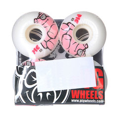Колеса для скейтборда для скейтборда Pig Pig White/Pink 101A 53 mm