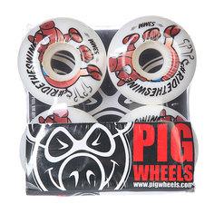 Колеса для скейтборда для скейтборда Pig Ride The Swine White 101A 53 mm