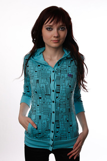 Толстовка женская Zoo York Knit City Block Island Blue