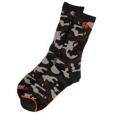Носки высокие Huf Camo Crew Sock Woodland