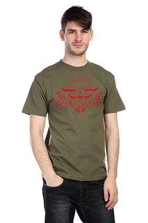 Футболка Fallen Uprising Shirt Army/Red