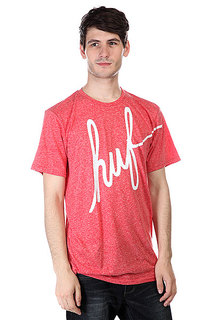 Футболка Huf Big Script Mock Twist Tee Red