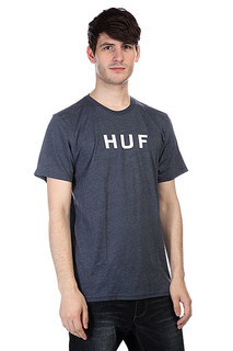 Футболка Huf Original Logo Tee Navy Heather