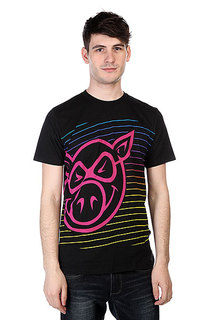 Футболка Pig Neon Stripe Black