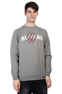 Толстовка Grizzly Wounded Crewneck Heather