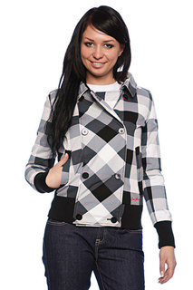 Куртка женская Zoo York Dizzy Pea Coat Thun Storm Plaid