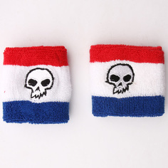 Напульсники Zero Sweat Bands Skull Red/White/Black