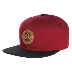 Бейсболка CLWR Badge Cap Burgundy