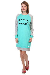 Платье женское CLWR Crew Dress Florida Green Melange