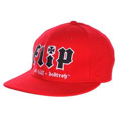 Бейсболка Flip Hate Kill Destroy Red
