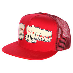 Бейсболка Toy Machine Fists Mesh Cap Red