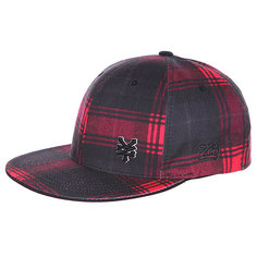Бейсболка Flexfit Zoo York Faux Real True Red