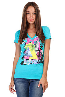 Футболка женская Zoo York Big Apple Tee Bluebird