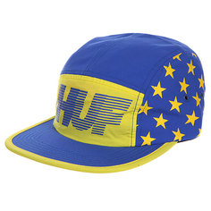Бейсболка пятипанелька Huf Hell Track Volley Yellow/Blue