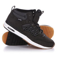 Кеды кроссовки высокие Huf Hr 1 Black/Reflective/Gum