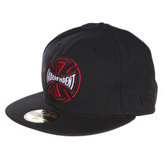 Бейсболка New Era Independent Majors Fitted Black