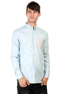Рубашка Huf Rushmore Oxford Long Sleeve Shirt Blue