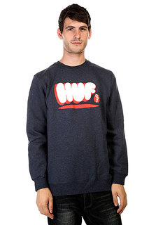 Толстовка Huf Bubbles Crew Navy Heather