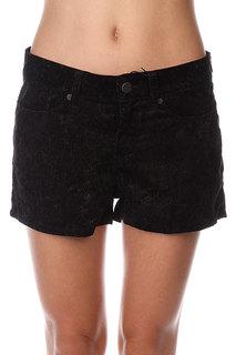 Шорты классические женские Insight Floral Velvet Shorts Black