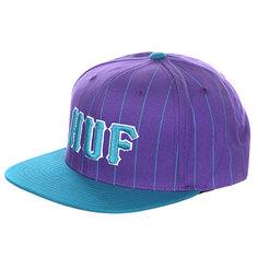 Бейсболка Huf Classic Pinstripe Starter Blue/Purple