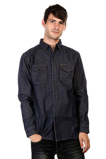 Рубашка Huf Marfa Denim Shirt Indigo