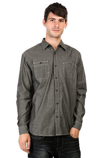 Рубашка Huf Vintage Chambray Work Shirt Black