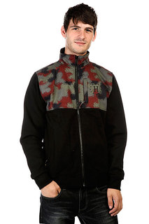 Толстовка Huf Preston Zip Up Fleece Jacket Black