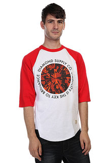 Лонгслив Diamond Simplicity Raglan White/Red