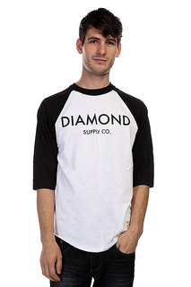 Лонгслив Diamond Classic Raglan White/Black