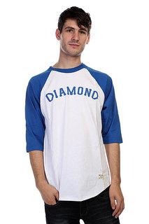 Лонгслив Diamond Dugout 98 Raglan White/Royal