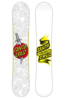 Сноуборд Santa Cruz Tatooed Hand 154 White