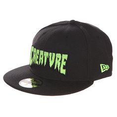 Бейсболка с прямым козырьком Creature Logo Fade New Era Black