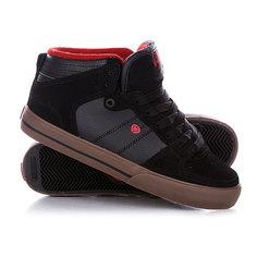 Кеды кроссовки высокие Circa Treht Bbrd Black/Blood Red