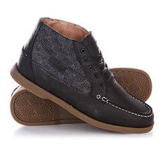 Кеды кроссовки высокие Circa Main Bkbtw Black Wool Tweed