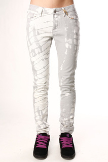 Джинсы узкие женские Insight Beanpole Skinny Strech Art Bleach Grey