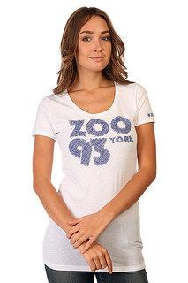 Футболка женская Zoo York Zoo 93 Scribble White
