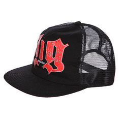 Бейсболка с сеткой Pig Hellbound Mesh Cap W/Button Black/Red