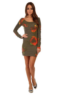 Платье женское Insight Axl Rose Dress Camo Green