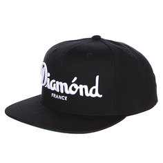 Бейсболка с прямым козырьком Diamond Champagne Snapback Black