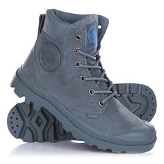 Синие Ботинки высокие женские Palladium Pampa Cuff Wp Lux Nordic Blue