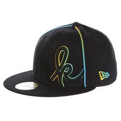Бейсболка с прямым козырьком Krux Kaveman New Era 59 Fifty Black