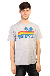 Футболка Bro Style Sunset Heather Grey