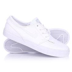 Кеды кроссовки низкие Nike Zoom Stefan Janoski L White/White Wolf Grey