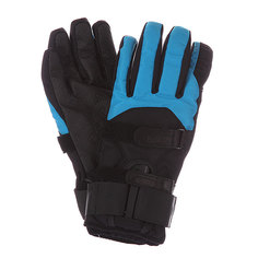 Перчатки сноубордические Bern Mens Synthetic Gloves Removeable Wrist Guard Black/Cyan