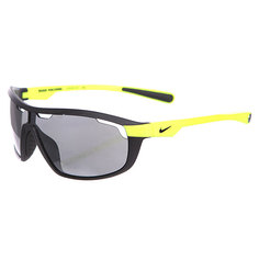 Очки Nike Road Machine Matte Black/Volt Grey W/Silver Flash Lens
