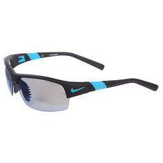 Очки Nike Show X2 R Grey W/Sky Blue Flash/Clear Lens Matte Black/Turbo Green