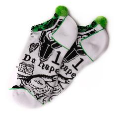Носки низкие женские Circa Low Black Magic White - Подарок