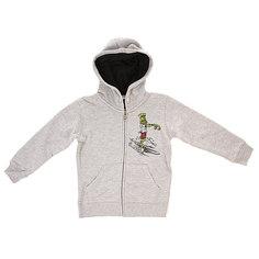 Толстовка классическая детская Quiksilver Hood zip dead lob Light Grey Heather