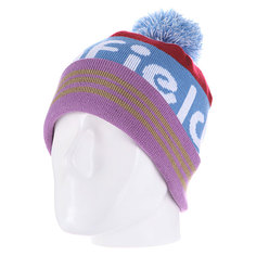 Шапка с помпоном Penfield Sanford/Logo Bobble Beanie Blue